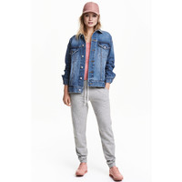 H&M Spodnie dresowe 0189640034 Grey marl