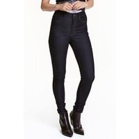 H&M Super Skinny High Jeans 0298273036 Ciemnoniebieski