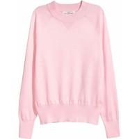 H&M Sweter z cienkiej dzianiny 0470955004 Jasnoróżowy