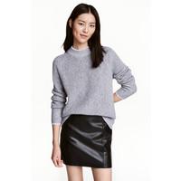H&M Sweter 0461368006 Szary melanż