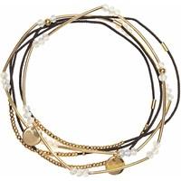H&M Elastyczne bransoletki 5-pak 0465712002 Złoty