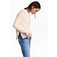 H&M Sweter 0458097004 Pudrowy