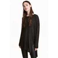 H&M Sweter o luźnym splocie 0398862002 Czarny