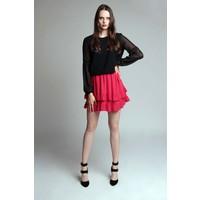 Blackbow Spódnica LILI RED czerwona