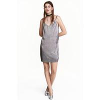 H&M Sukienka na ramiączkach 0467331004 Srebrny