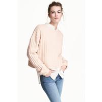 H&M Sweter 0478727001 Pudroworóżowy melanż