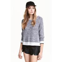 H&M Sweter 0454062001 Czarny melanż