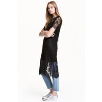 H&M Koronkowa sukienka 0481468001 Czarny