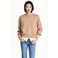 H&M Sweter 0447112001 Beżowy melanż