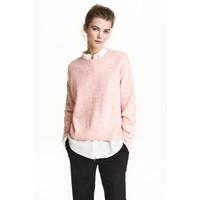 H&M Sweter oversize 0448193001 Jasnoróżowy melanż