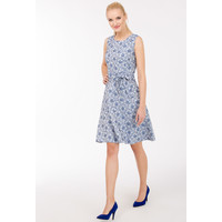 Monnari Letnia sukienka w kwiaty SUKPOL0-17W-DRE2040-KM12D500-R36
