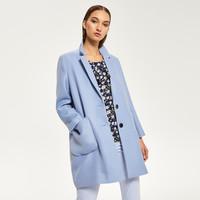 Reserved Błękitny płaszcz QS291-50X