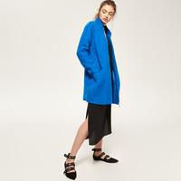 Reserved Niebieski płaszcz RA258-57X