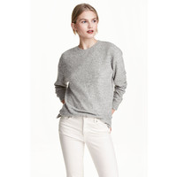 H&M Cienki sweter 0491073001 Szary melanż