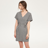 Reserved Sukienka w kratę QV478-MLC