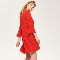 Reserved Sukienka z falbaną QK329-33X