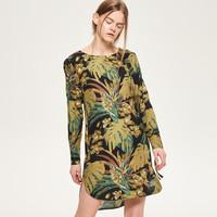 Reserved Sukienka w kwiatowy wzór QX646-MLC