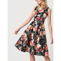 Mohito Kwiecista sukienka z pudełkowym żakietem RM796-99X