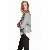 H&M Sweter 0453888003 Grey marl