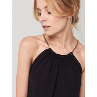 Mohito Czarrna sukienka z dekoltem halter RB309-99X