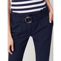 Mohito Proste spodnie z ozdobnym paskiem RM458-95X