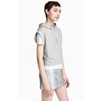H&M Spódnica dżinsowa 0489545005 Srebrny