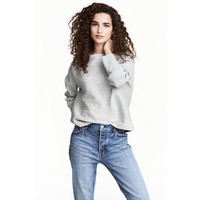 H&M Cienki sweter 0475438003 Jasnoszary melanż