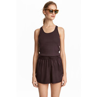 H&M Koszulka z bawełny pima 0526022003 Fioletowy