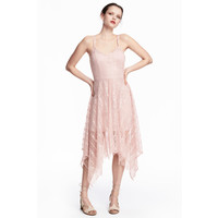 H&M Koronkowa sukienka 0487724002 Pudroworóżowy