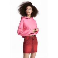H&M Spódnica dżinsowa 0544423001 Czerwony sprany
