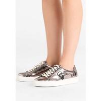 KARL LAGERFELD KUPSOLE IKONIC LACE Sneakersy niskie dark silver metallic K4811S00K
