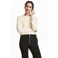 H&M Sweter z wełny merynosowej 0522346003 Naturalna biel