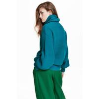 H&M Sweter 0559628004 Ciemnoturkusowy