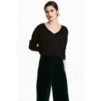 H&M Sweter z wełny merynosowej 0538458002 Czarny