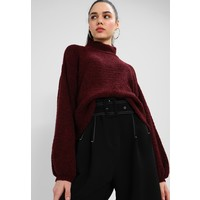 Topshop BALLOON Sweter red TP721I0EZ