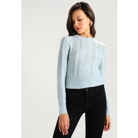 Topshop CABLE Sweter blue TP721I0DX