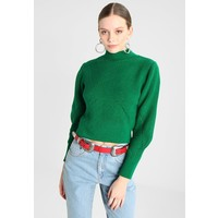 Topshop LATTICE BACK FUNNEL Sweter green TP721I0DO