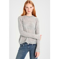 TOM TAILOR DENIM COZY CREW NECK Sweter light silver grey TO721I07X