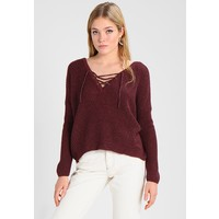 ONLY ONLPEYTON LACE UP Sweter port royale ON321I0U8