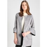 New Look FRILL SLEEVE SUEDETTE JACKET Krótki płaszcz grey NL021G06B