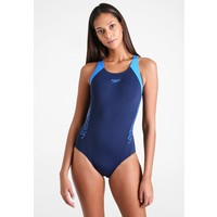 Speedo BOOM SPLASH Kostium kąpielowy navy/neon blue 1SP81G01L