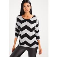 ONLY ONLELCOS Sweter light grey melange/black ON321I0YC