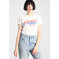 Topshop MAYBE BABY MOTIF TEE T-shirt z nadrukiem white TP721D0K3
