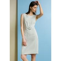 Monnari Sukienka z biżuteryjnym kółkiem SUKIMP0-18L-DRE0800-K015D000-R36