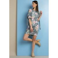 Monnari Sukienka z motywem kwiatowym SUKPOL0-18L-DRE2080-KM15D601-R36