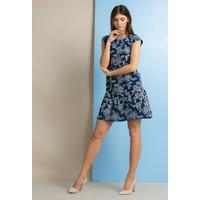 Monnari Sukienka z wyszywanym, kwiatowym wzorem SUKPOL0-18L-DRE3290-KM13D800-R36