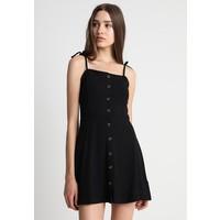 Topshop BUTTON THRU MINI Sukienka z dżerseju black TP721C0YB