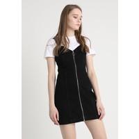 Topshop 90S NECK DRESS Sukienka jeansowa black denim TP721C0X8