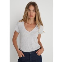 Abercrombie & Fitch VNECK ICON TEE NEUTRALS T-shirt basic light heather grey A0F21D01W