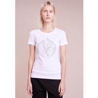 Versace Jeans T-shirt z nadrukiem bianco ottico 1VJ21D02L